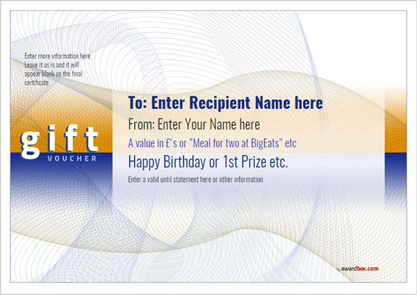 Gift Voucher Template Modern Design 3 Full Page Image  Gift Certificate Template Pages