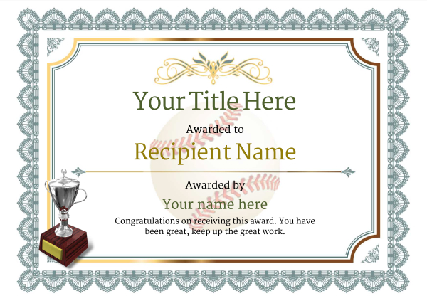 Use free baseball certificate templates by awardbox certificate template baseballthumbs classic 3dt2s image yadclub Image collections
