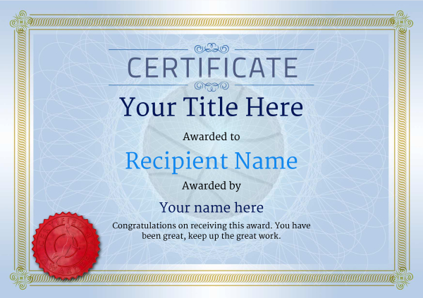 certificate-template-basketball-classic-4bbsr Image