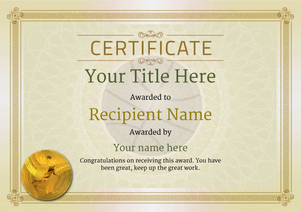 certificate-template-basketball-classic-4dbmg Image
