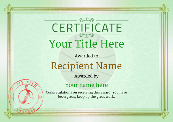 certificate-template-basketball-classic-4gbsr Image