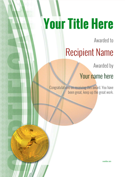 certificate-template-basketball-modern-1gbmg Image