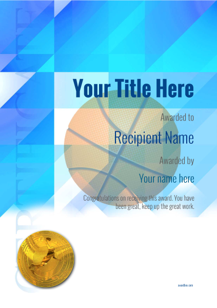 certificate-template-basketball-modern-2bbmg Image