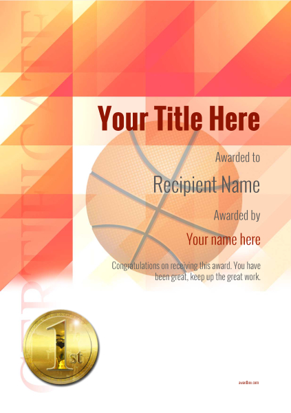 certificate-template-basketball-modern-2r1mg Image