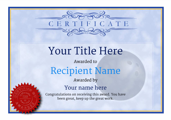 certificate-template-bowling-classic-1bcsr Image