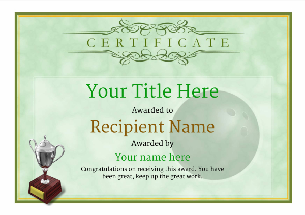 certificate-template-bowling-classic-1gt3s Image