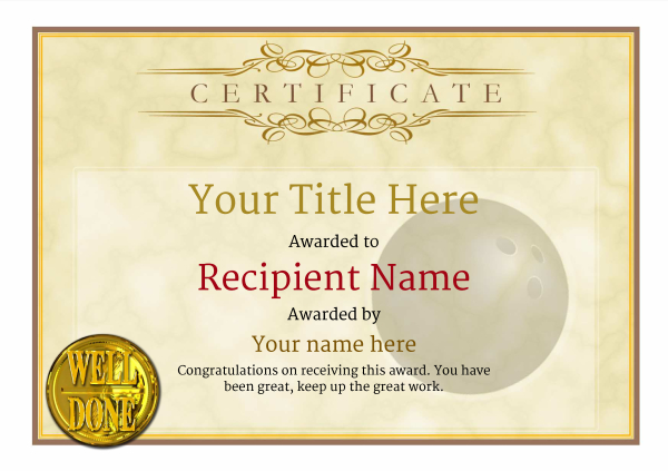 certificate-template-bowling-classic-1ywnn Image