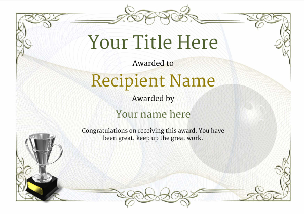 certificate-template-bowling-classic-2dt4s Image