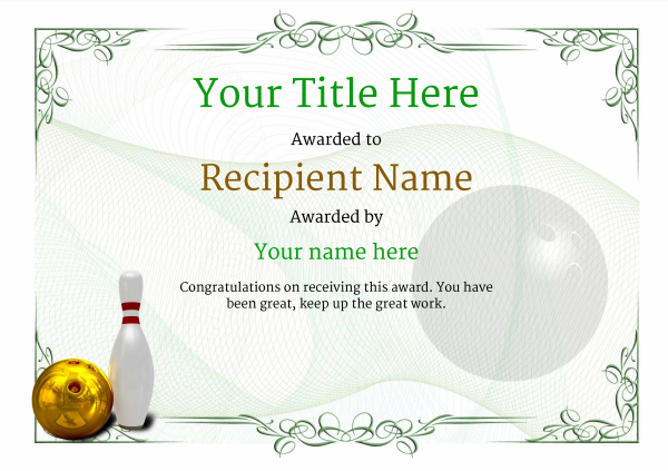 certificate-template-bowling-classic-2gbnn Image