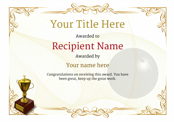 certificate-template-bowling-classic-2yt2g Image