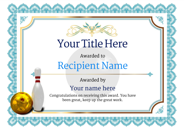bowling certificates template free free ten pin bowling certificate templates inc printable
