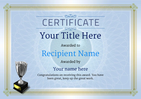 certificate-template-bowling-classic-4bt5s Image