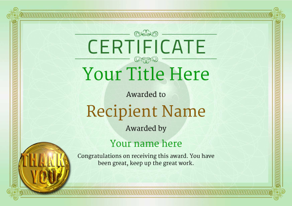 certificate-template-bowling-classic-4gtmg Image