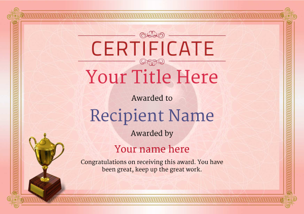 certificate-template-bowling-classic-4rt3g Image