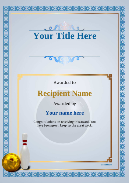Bowling award certificate template image collections certificate gift certificate template bowling gallery certificate design and free ten pin bowling certificate templates inc printable yelopaper Image collections
