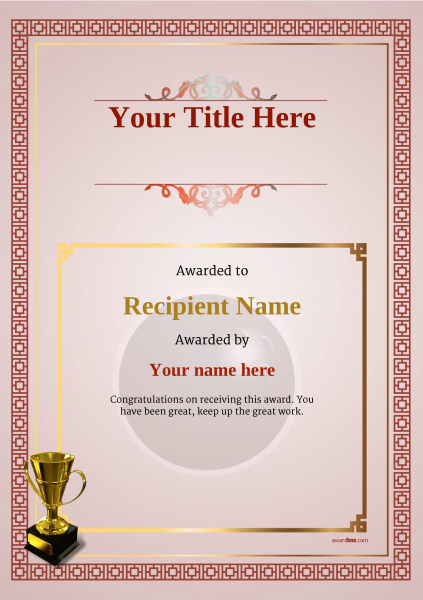 certificate-template-bowling-classic-5rt4g Image