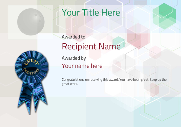 certificate-template-bowling-modern-5dcrg Image