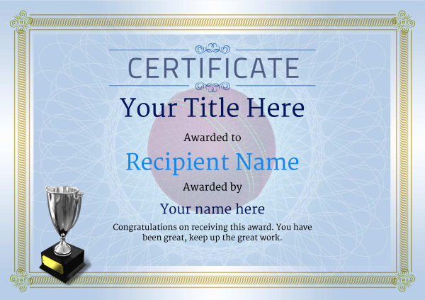 certificate-template-cricket-classic-4bt5s Image