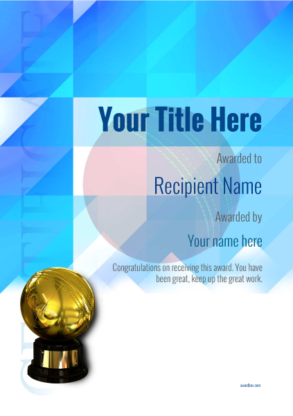 free cricket certificate templates