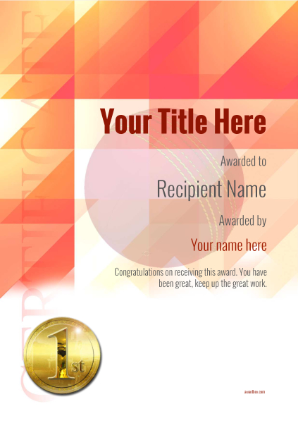certificate-template-cricket-modern-2r1mg Image