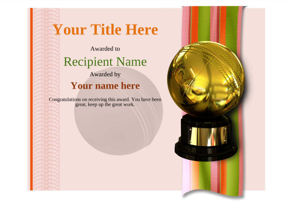 certificate-template-cricket-modern-4rcbg Image
