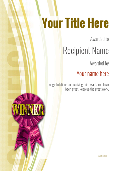 certificate-template-dressage-modern-1ywrp Image