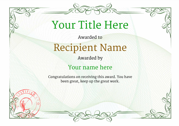 certificate-template-fishing-classic-2gfsr Image