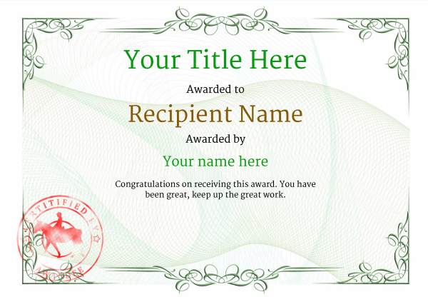 certificate-template-horse-riding-classic-2ghsr Image