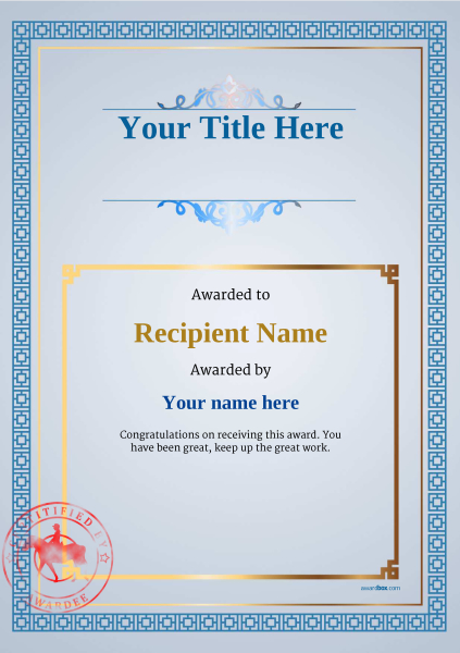 certificate-template-horse-riding-classic-5bhsr Image