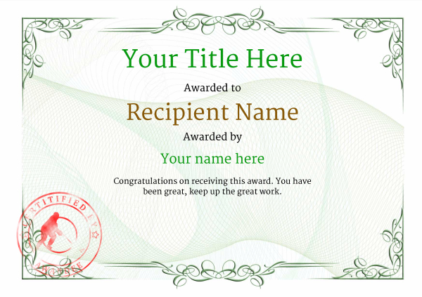 certificate-template-ice-hockey-classic-2gisr Image