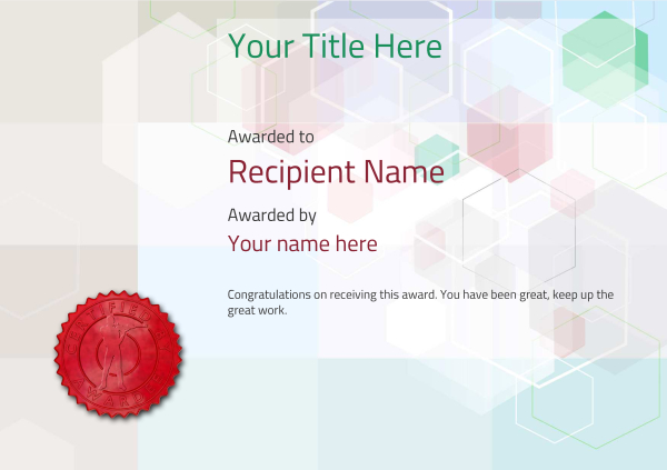 certificate-template-rifle-shooting-modern-5drsr Image