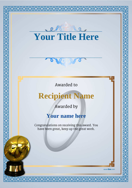 Free rugby certificate templates add printable badges medals certificate template rugby classic 5brbg image yelopaper Images