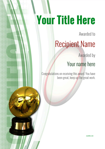 certificate-template-rugby-modern-1grbg Image
