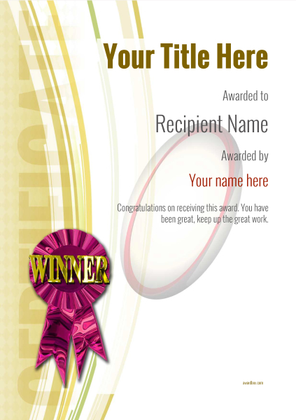 certificate-template-rugby-modern-1ywrp Image