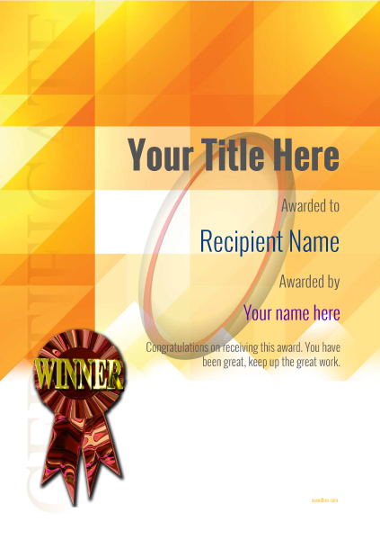 certificate-template-rugby-modern-2dwrr Image