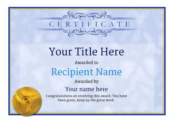 certificate-template-skiing-classic-1bsmg Image