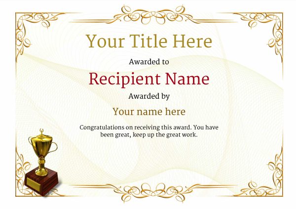 certificate-template-skiing-classic-2yt2g Image