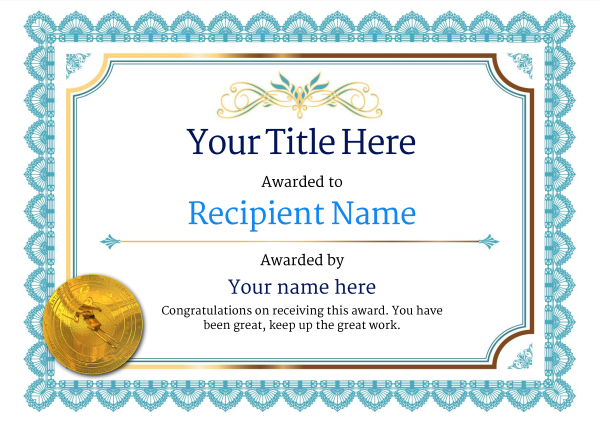 certificate-template-skiing-classic-3bsmg Image