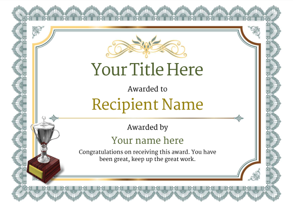 certificate-template-skiing-classic-3dt2s Image
