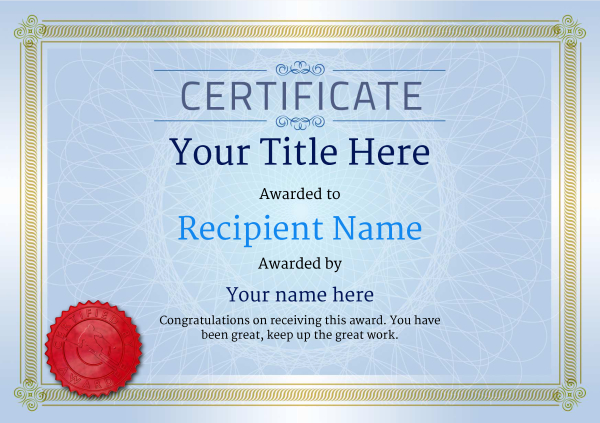 certificate-template-skiing-classic-4bssr Image