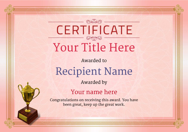 certificate-template-skiing-classic-4rt3g Image