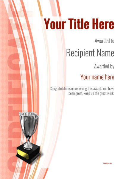 certificate-template-skiing-modern-1rt5s Image