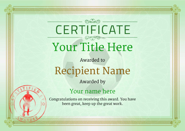 Charming Football Certificate Templates Contemporary  Example