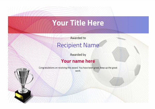 certificate-template-soccer-modern-3dt4s Image