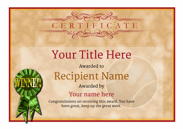 certificate-template-tennis-classic-1dwrg Image