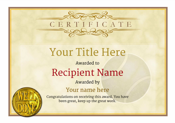 certificate-template-tennis-classic-1ywnn Image