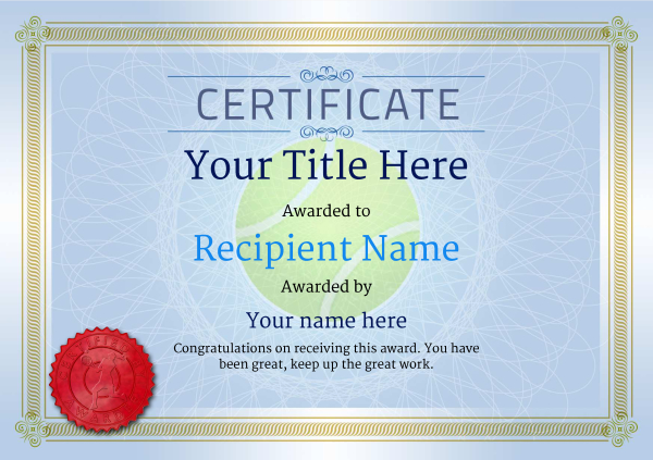 certificate-template-tennis-classic-4blsr Image