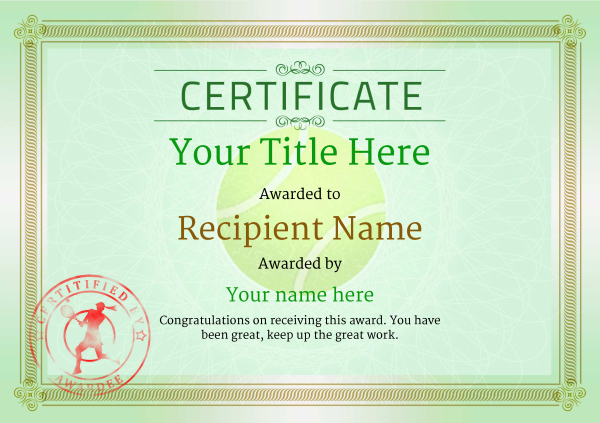certificate-template-tennis-classic-4glsr Image