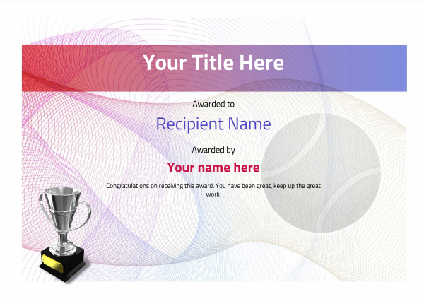 certificate-template-tennis-modern-3dt4s Image