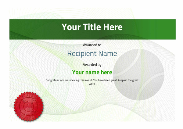 Famous tennis certificate template gallery example resume ideas free tennis certificate templates add printable badges medals yadclub Gallery